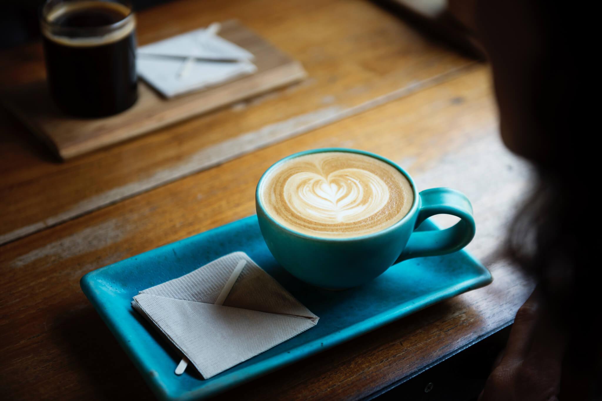 coffee blue cafe